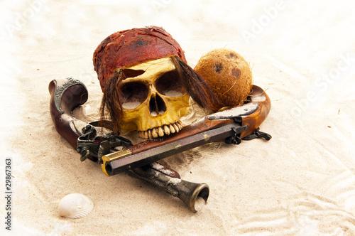 Poster Pirate skull- full view