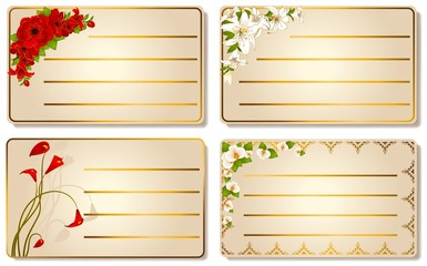 abstract visiting-card with beautiful flowers