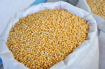 Grain in sacks