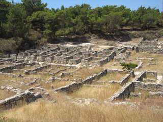 Ancient city of kamiros at Rhodes