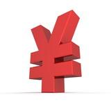 Yen Symbol - Glossy Red
