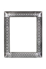 Silver metal frame isolated on white background
