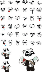 cupid panda cartoon