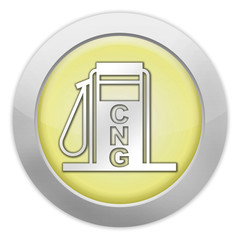 "Light Colored Icon (Yellow) ""Fuel Dispenser - CNG"""