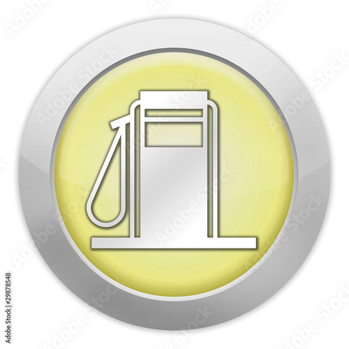 "Light Colored Icon (Yellow) ""Fuel Dispenser / Fuel Pump"""