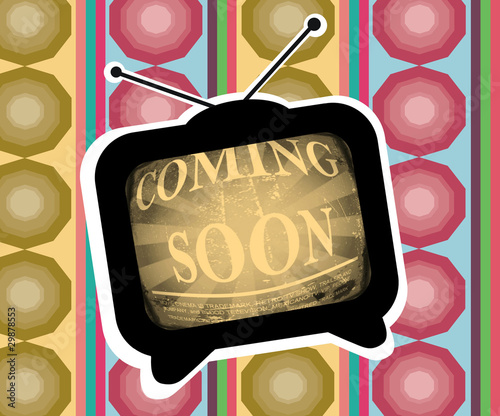 coming soon - TV (retro style) - illustration