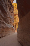 View of the Treasury at sunrise. Petra, Jordan