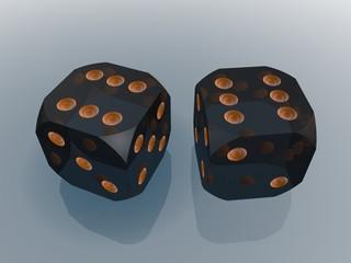 Кубики для игры в кости