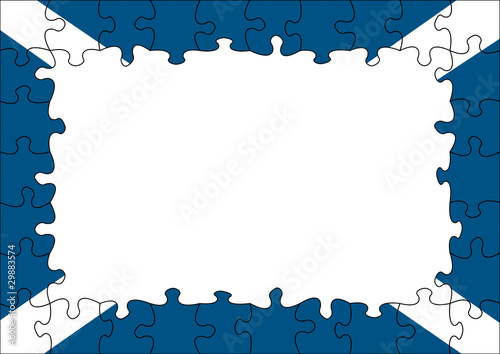 Scotland flag puzzle border