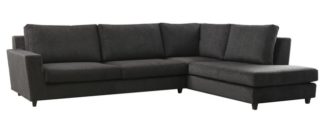 black leather isolated couch