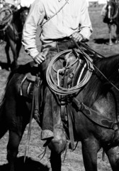 Real Cowboys Riding (black and white)