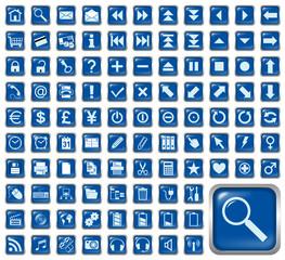 101 Symbole, blau, Icons, Buttons