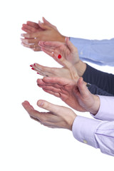 Group of clapping hands