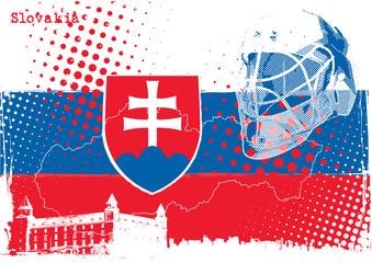 ice hockey slovakia poster