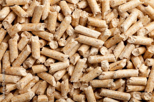 Leinwandbild Motiv wood pellets background