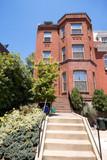 Richardsonian Romanesque Row House Washington DC poster