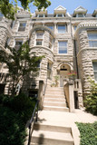 Richardsonian Romanesque Stone Row Home Washington poster