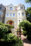 Richardsonian Romanesque Row House Home Washington poster