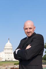Confident Power Broker Lobbyist US Capitol