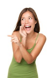 Laughing and pointing woman - 29889331