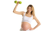 Pregnant woman involved in fitness poster