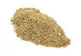 Vermiculite on white background