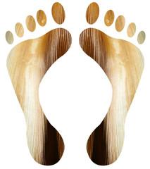 pieds écorce de palmier