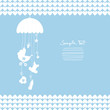 Hanging Mobile Baby Symbols Hearts Boy Blue