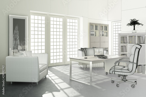Contemporary Office Design (3d)