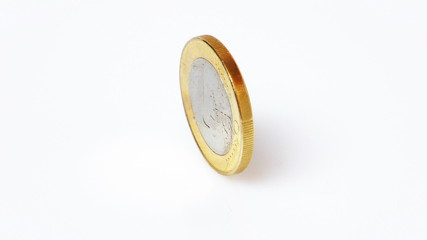 HD - Euro coin spinning (loop)