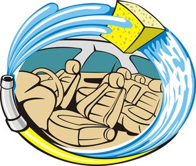car trim indoor washing sign