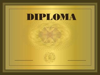 Diploma gold Frame