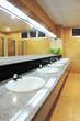 Handbasin and mirror in toilet