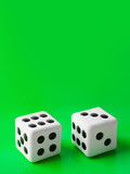 Two gambling dices poster