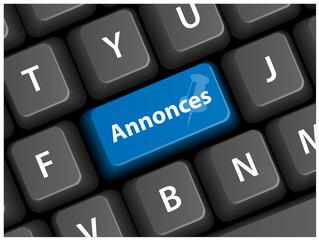 """Touche """"ANNONCES"""" (petites journal vente d'occasion bouton web)"""