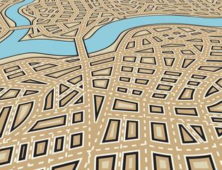 Angled city