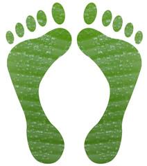 pieds verts feuille de bananier