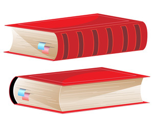 Hardcover with bookmarks