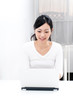 beautiful asian woman using laptop