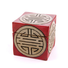 Traditional vietnamese box made from marble. Size: 60x60mm.