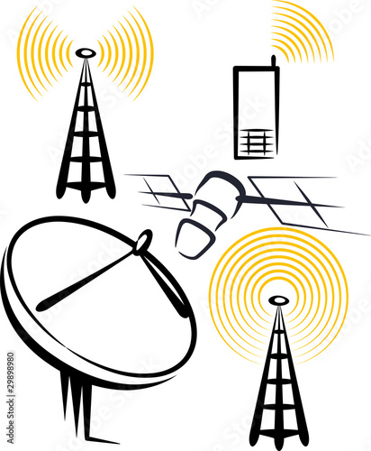 illustration with a set of radio devices