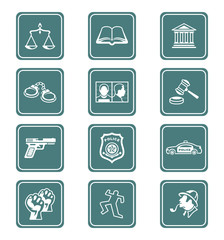 Law and order icons | TEAL series