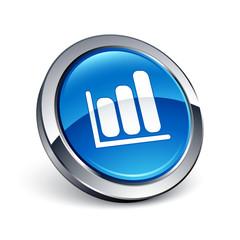 icône bouton internet graphique histogramme