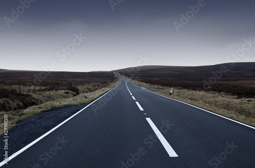 poster of View of empty road