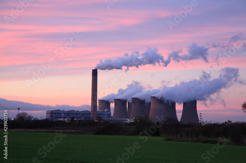 Drax Power Station at sunset