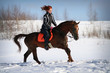 Winter horse ride
