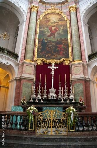 High altar of the baroque Katholische Hofkirche, Dresden