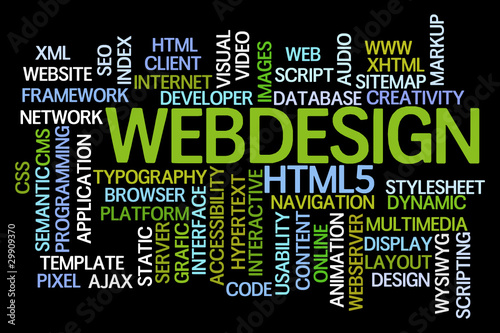 Webdesign Word Cloud