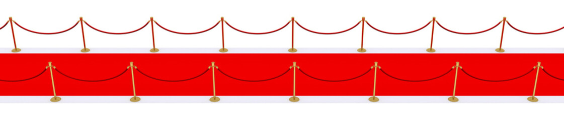 red carpet with gold stanchions