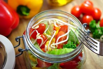 Bunter Salat mit Sprossen